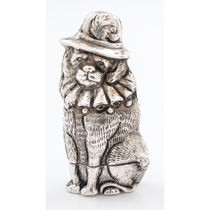 Silverplated Toby the Dog Match Safe
