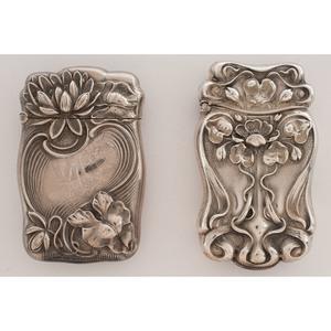 Art Nouveau Floral Sterling Match Safes