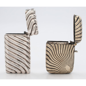 Silver and Silverplated Swirl Match Safes