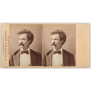 Mark Twain Stereoview by J. Gurney