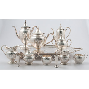 Gorham Sterling Silver Tea and Coffee Service, Plus