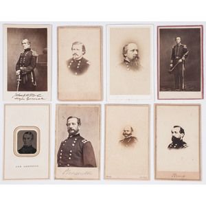 CDVs of Civil War Generals and Admirals, Lot of 8
