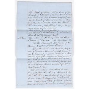 Texas Slavery Document, 1864