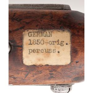 German Percussion Single-Shot Military Pistol