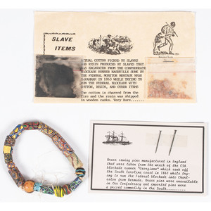 Group of Items Made by Slaves and Recovered from Blockade Runners, Plus