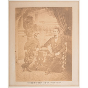 Abraham Lincoln and his Son Tad, Last Formal Photograph