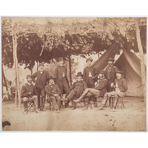 Civil War Photographs of Generals Julius White and Orlando Willcox with their Staffs