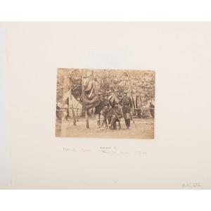 Civil War Photographs of Generals Julius White and Orlando Willcox with their Staffs