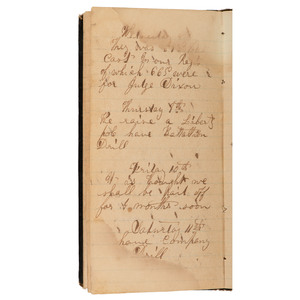 Civil War Archive of Pvt. Samuel A. Burhaus, 12th Wisconsin Infantry, Incl. War Diary and Sketch Depicting the Siege of Vicksburg