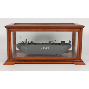Cased Wooden Ship Model