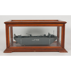 Cased Wooden Ship Model