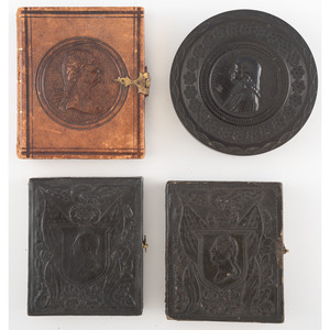 Four Photographic Cases Featuring George Washington and John Wesley