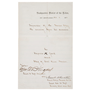 Modoc Chief Captain Jack, Document Signed the Night Before his Hanging