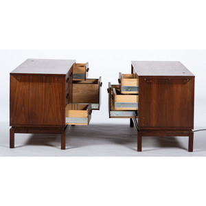 Mid-Century Modern Desk and Consoles, attributed to Dunbar