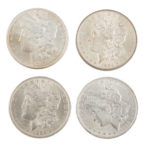 United States Morgan Silver Dollars, Lot of Four