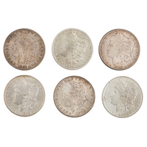 United States Morgan Silver Dollars, Lot of Six