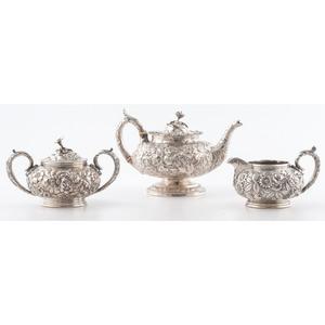 Baltimore Sterling Repoussé Tea Service