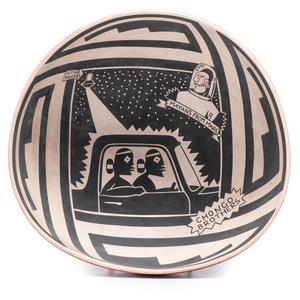 Diego Romero (Cochiti Pueblo, b. 1964) Pottery Bowl, From the Collection of Robert B. Riley, Urbana, IL.