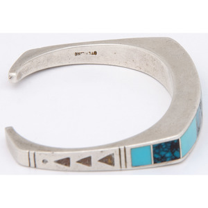 Zuni and Navajo Sterling Silver and Turquoise Cuff Bracelets