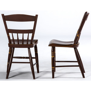A Pair Painted Fancy Chairs