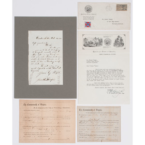 Letters and Documents from the Confederacy, Plus
