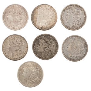 United States Morgan Silver Dollars, Lot of Seven