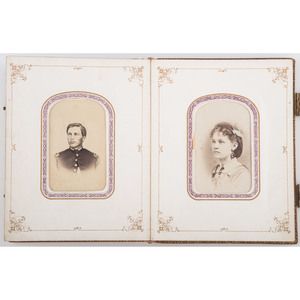 Civil War CDV Album Containing Images of Soldiers, Some Identified, Incl. Private Orin C. Tiffany, 187th PA, KIA Petersburg