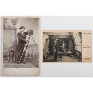 Cabinet Card of Photographer Posed with his Camera, Plus