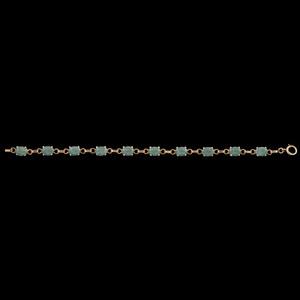 14k Gold Green Hardstone Bracelet