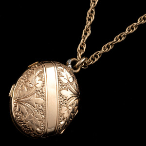 Gold-Filled Locket on 14k Gold Chain
