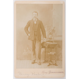 Cabinet Card of Photographer with his Kodak Camera No. 1