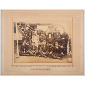 Albumen Photograph of Crew Members Taken Aboard the Iron-Hulled Barque,