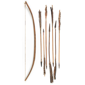 Plains Bow and Arrows