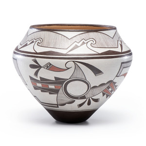 Les Namingha (Hopi, b. 1967) Polychrome Pottery, From the Collection of Robert B. Riley, Urbana, IL.