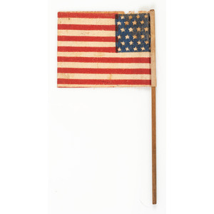 Very Rare 27-Star US Parade Flag Commemorating Florida