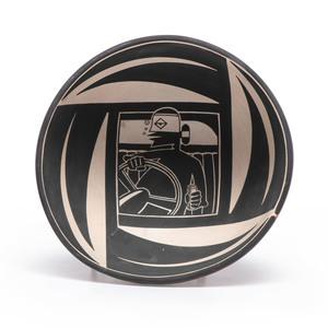 Diego Romero (Cochiti, b. 1964) Pottery Bowl, From the Collection of Robert B. Riley, Urbana, IL.