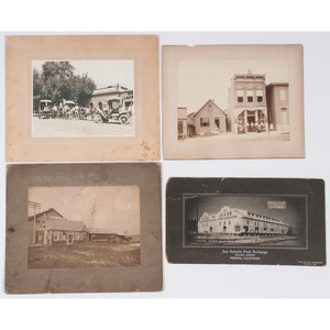 Late 19th-Early 20th Century Photographs of Storefronts, Lot of 4