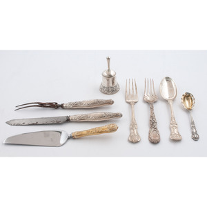 Tiffany & Co. Sterling Serving Flatware and Bell