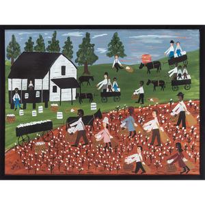 Folk Art Paintings of Rural Scenes by Various Artists