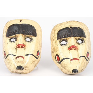 Painted Wood Carnival Masks