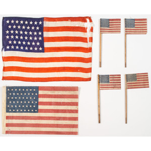 48-Star Printed Parade Flags, Lot of 4