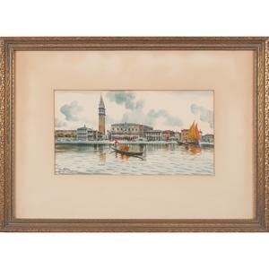 Alberto Rossi (Italian, 1858-1936) Watercolors