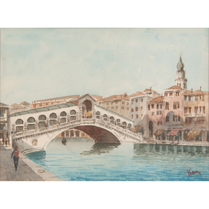 Watercolors of Venice signed Kiam