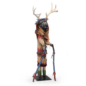 Arnell Yazzie (Dine, 20th century) Sowi-ing, Deer Katsina, From the Collection of Robert B. Riley, Urbana, IL.