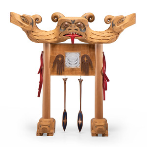 Ed Archie Noisecat (Salish, 20th century) Wood Sculpture, From the Collection of Robert B. Riley, Urbana, IL.