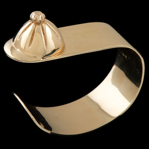 Betty Ruetenik 14k Gold Equestrian Cuff