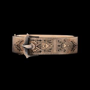 10k Gold Victorian Buckle Bracelet
