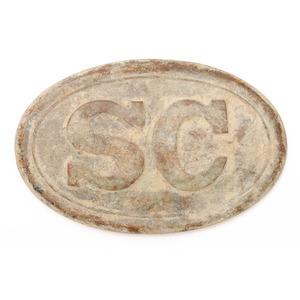 Dug South Carolina Belt Plate