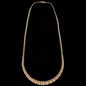14k Tricolor Gold Necklace