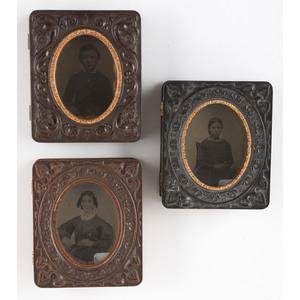 Three Ninth Plate Geometric Union Cases with Glass Windows [Berg 3-237G, 3-238G, 2-571G]